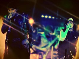 Altered image of the band members at another concert