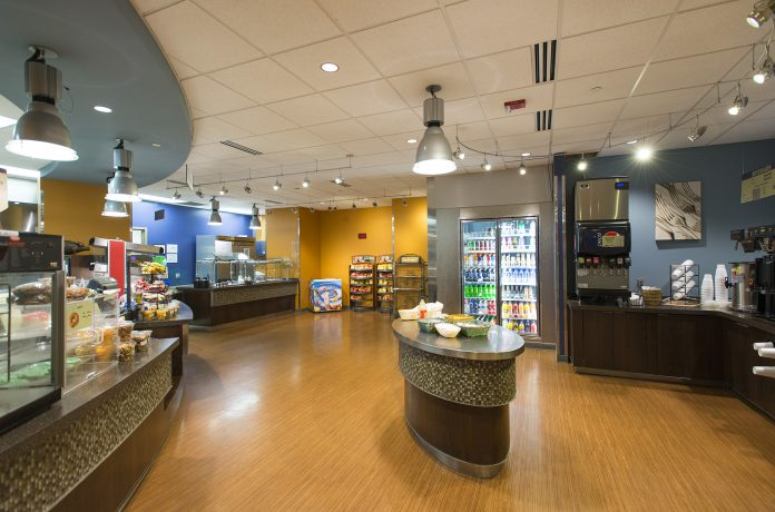 Panoramic view of the Bruin Bistro.