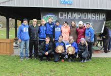 Group photo of the cross-country runners.