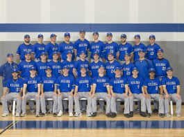 Group photo of KCC's 2019 baseball team.