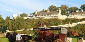 Horse carriage on Mackinac Island.