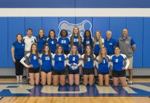 KCC's 2019 women's volleyball team. Photo courtesy of Kellogg Community College.