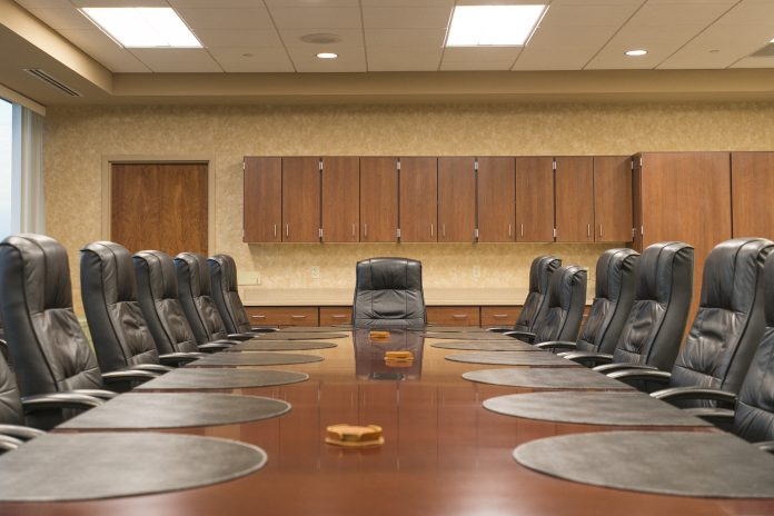 Board room in the Roll Building of KCC's North Ave. campus