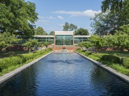 The new fountains at the North Avenue Campus in Battle Creek