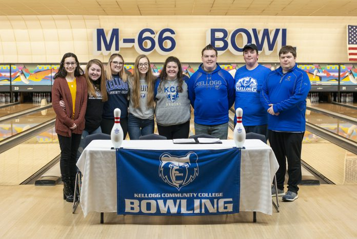 KCC bowling team pose for a photo