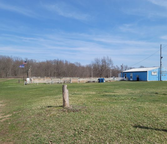 The Branch County Saddle Club arena.