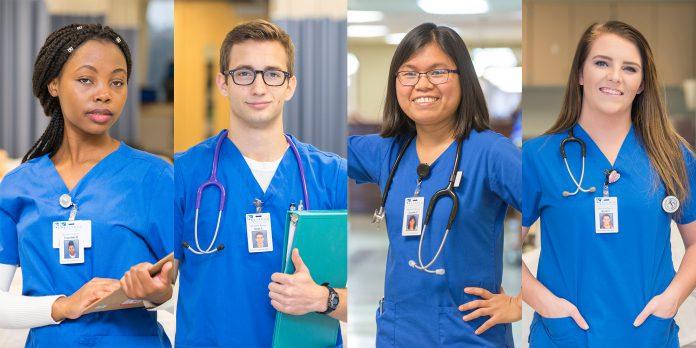 Nursing students.