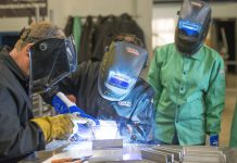 Students weld at the RMTC.