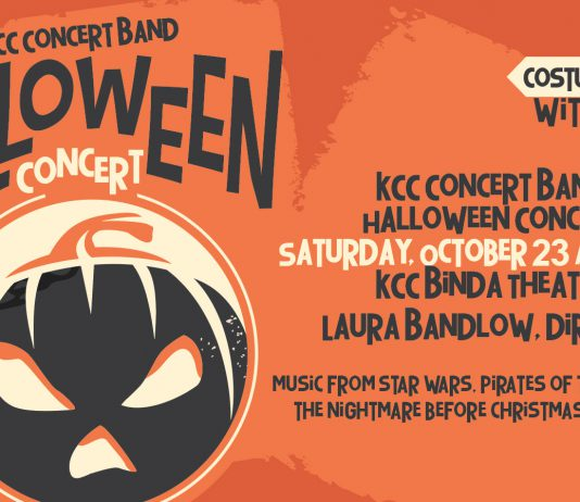 A decorative text slide featuring an illustration of a jack-o'-lantern and text about the event that's included in the post.